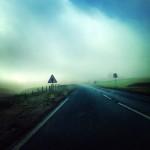 fog descending over road on The Moors
